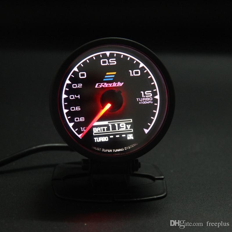 62 ملم 2.5 بوصة 7 لون في 1 سباق GREDY موضوع D / A LCD العرض الرقمي توربو دفعة قياس السيارات الاستشعار قياس