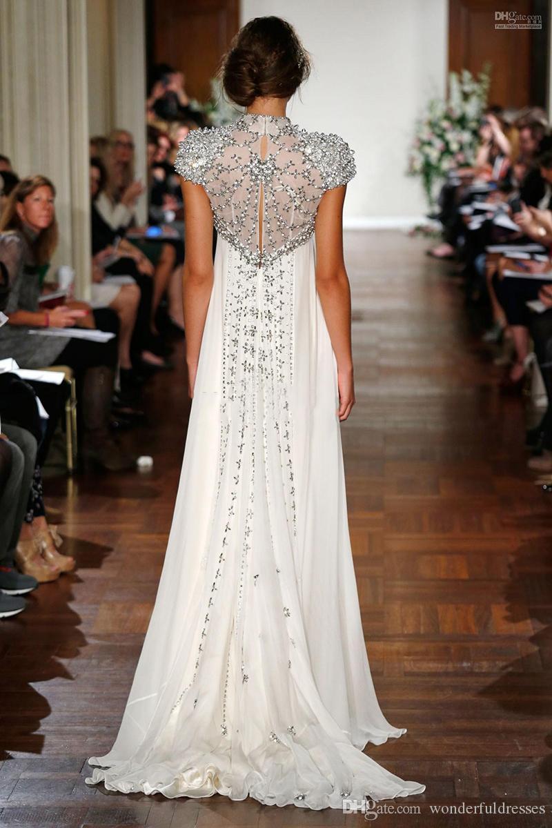 Ivory Bead Crystals Jenny Packham Boho Beach Wedding Dress With ...