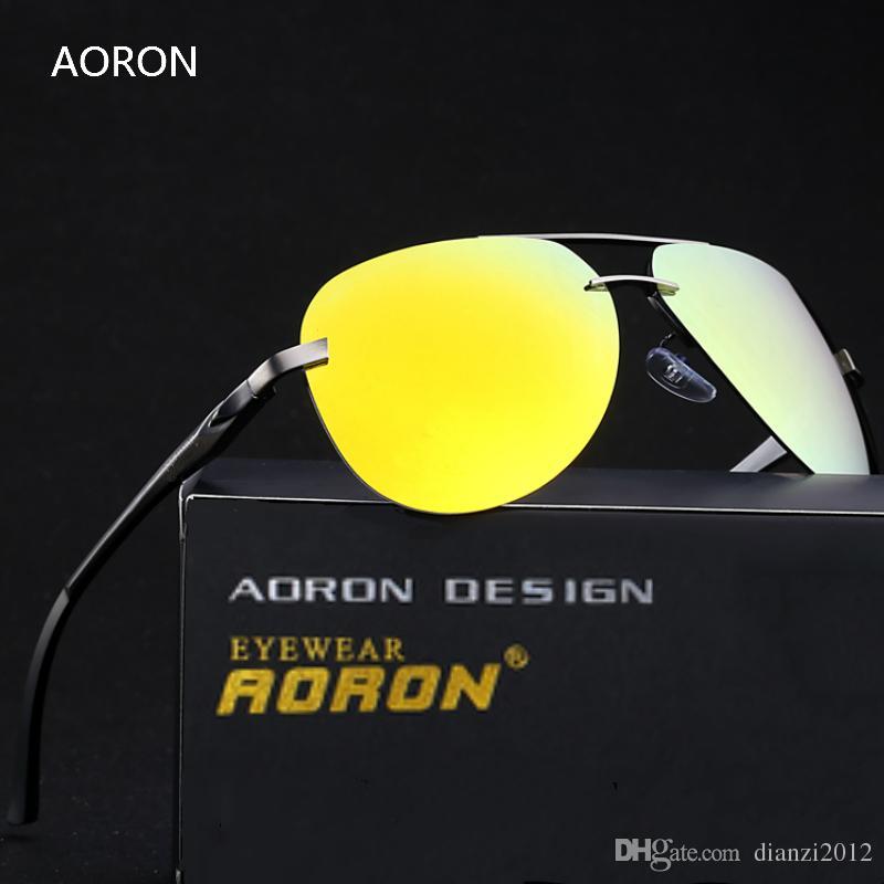 Aluminium HD polarisierte Sonnenbrille-Mannfrauen-Fahrer-Spiegelsonnenbrille Polaroid-Linse Randlose Eyewear Spitzenqualität Strahl-im Freiensportgläser