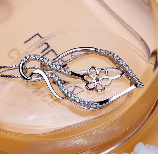 Heißer Verkauf eingelegter Großhandelszirkon natürlicher Perlen-hängender Halsketten-Zusatz verhindert Allergie DZ0213