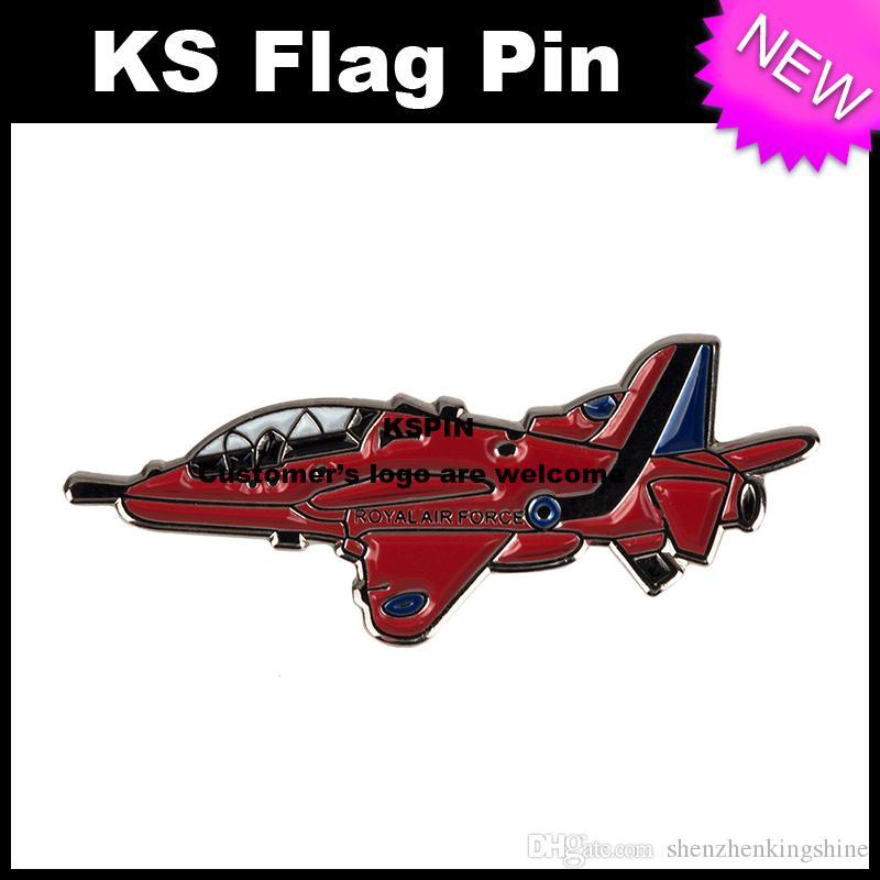 Red Battle Plane Metal Badge Pin 10pcs molto Spedizione gratuita XY0096