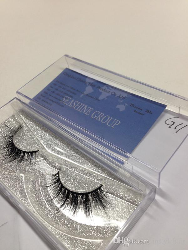 Toptan 10 Çift 3D Lashes Şeritler El Yapımı Uzun Göz Lashes Kadınlar Için Yüksek Kalite Siyah Kalın Yanlış Eyelashes Makyaj ...