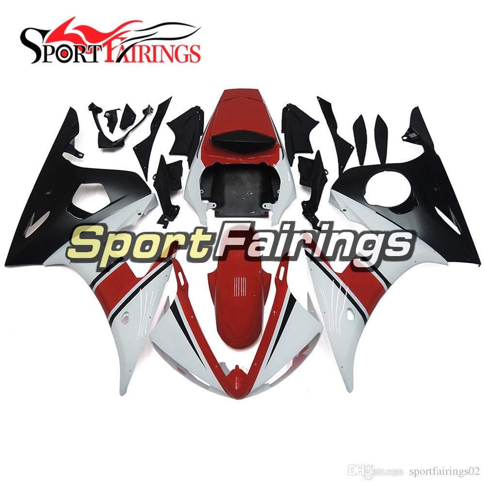 Injection Fairings For Yamaha YZF600 YZF R6 03 04 2003 - 2004 Injection ABS Fairings Motorcycle Fairing Kit Bodywork Cowling White Red