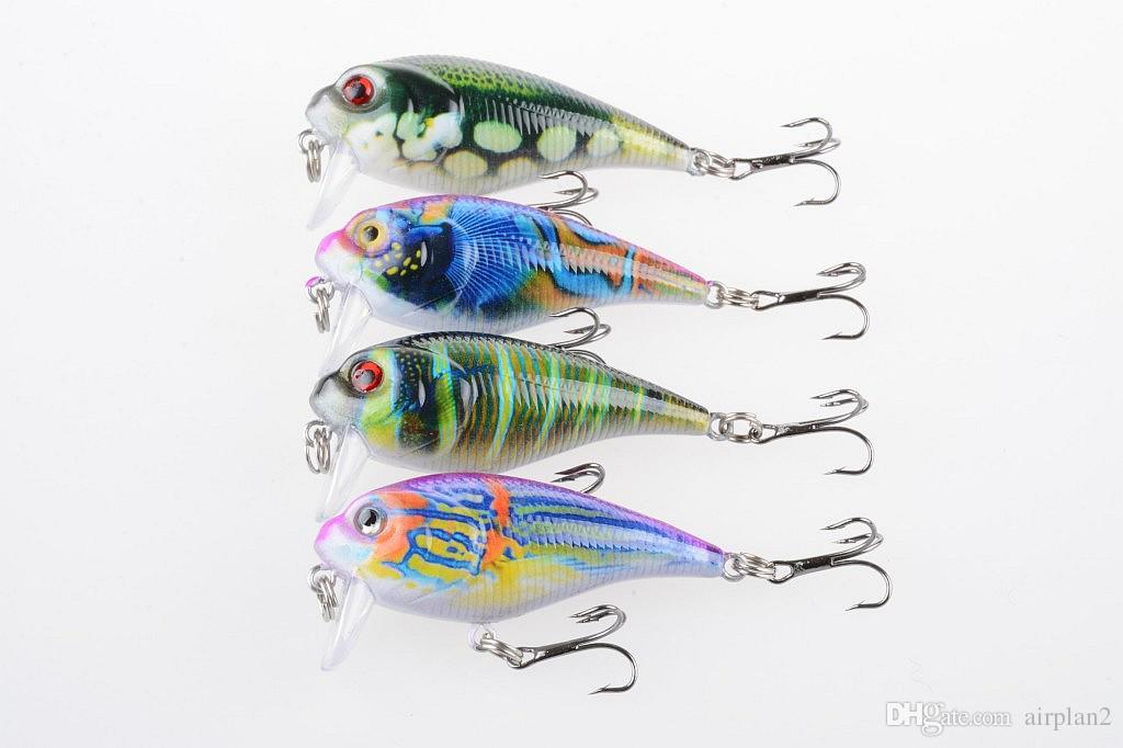 4шт Clownfish серии Bionic рыболовных приманок 5.5cm / 9g Круглый жира Пластиковые Приманки Приманки Радуга цвета Рыбалка Инструменты 1606107