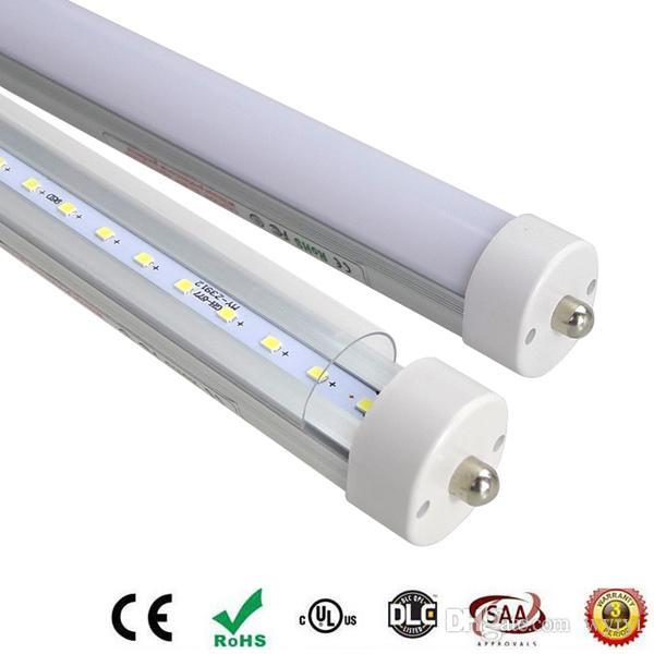 pin singola lampada luce del tubo del LED T8 SMD 2835 3 piedi 4 piedi 5 piedi 6ft Fa8 AC85-265V 1 pin Fa8s trasporto libero