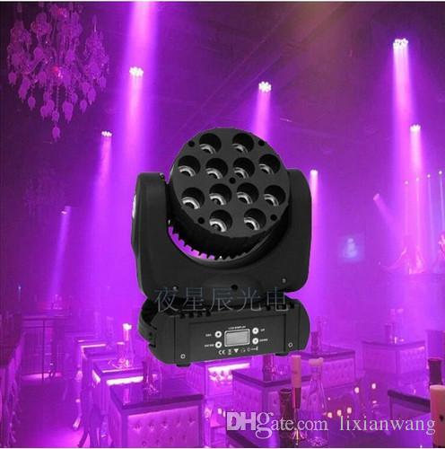 الصمام شعاع يتحرك رئيس ضوء 12x12w RGBW 4IN1 اللون مع متقدمة 16/09 قنوات DMX DJ ديسكو لجميع الاطراف أضواء
