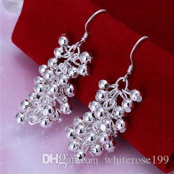 Al por mayor - el precio más bajo regalo de Navidad 925 pendientes de moda de plata esterlina E008