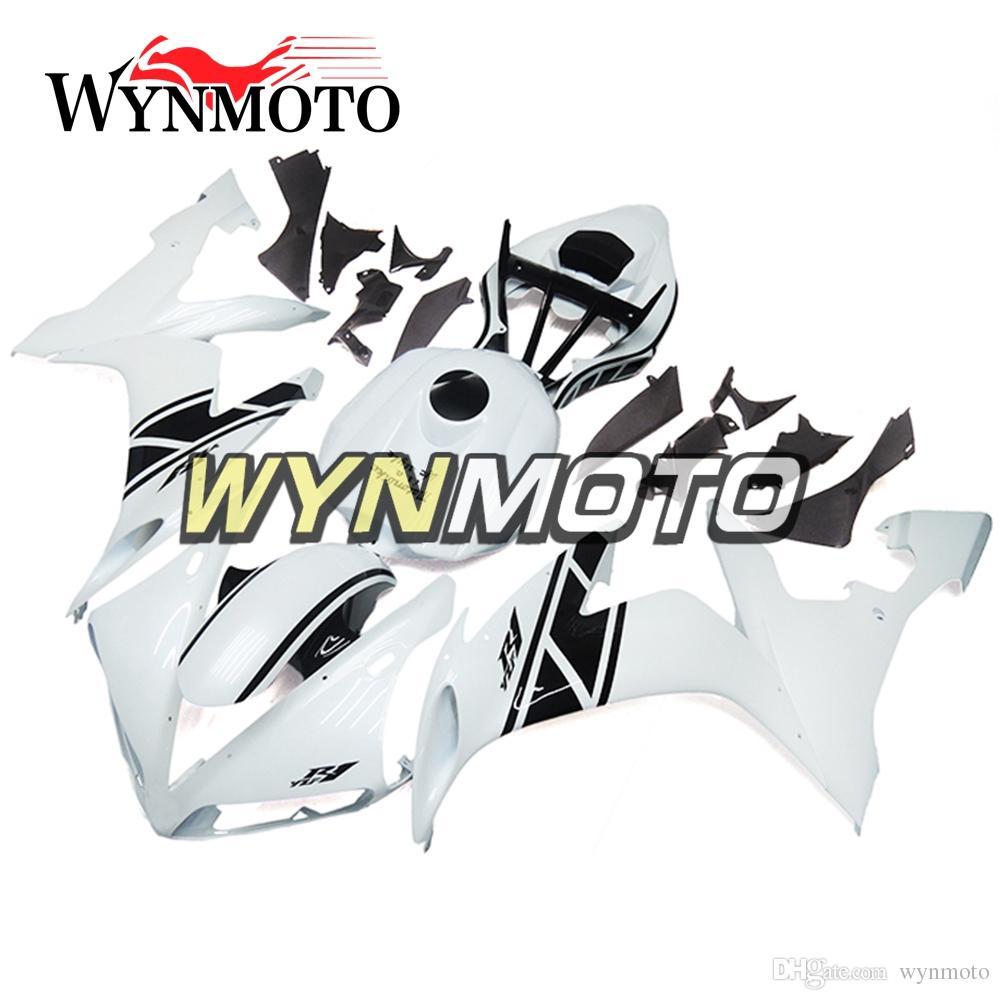 04-06 R1 Motocicleta Carenagem Completa Kit Para Yamaha YZF1000 R1 YZF 1000 2004 2005 2006 ABS Plástico Corpo Kits Carroçaria Branco Pérola Carenagens