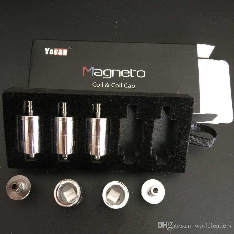 100% originale Yocan Magneto Sostituzione Bobine Testa bobina in ceramica con capsula bobina magnetica e strumento Dab
