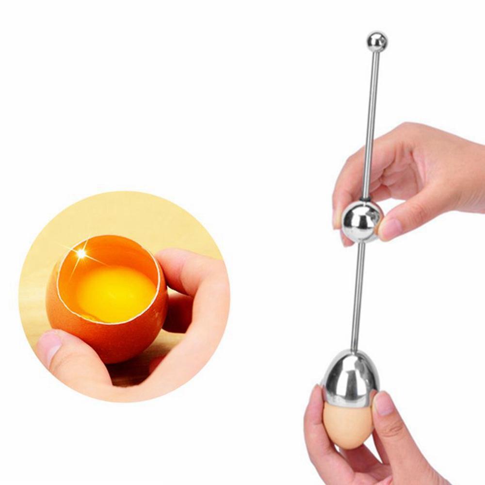 Kreative Silber Edelstahl Eieröffner Home Küche DIY Öffnen heiß Ei Werkzeug L3P6