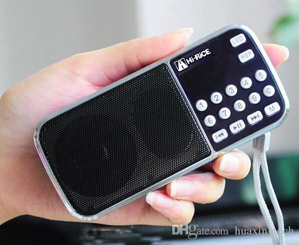 Tragbare FM / AM Radio USB TF-Karte MP3-Player Digital-Lautsprecher Hi-Rice SD-101 für Freizeit-Tanzen