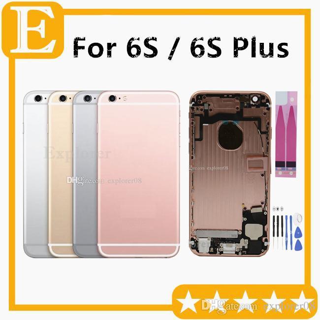 Iphone 6 S 4.7 '' 6 S Artı 5.5 '' inç OEM Pil Arka Kapı Kılıfı Tam Konut Meclisi Yedek Parçalar 1 Adet / grup