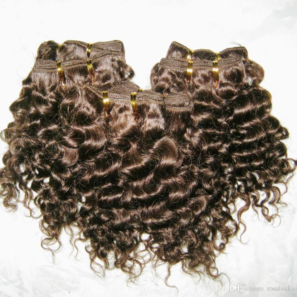 8pcs Brand New vendita all'ingrosso riccio peruviano dei capelli umani / lot raffredda stile nobile Extension