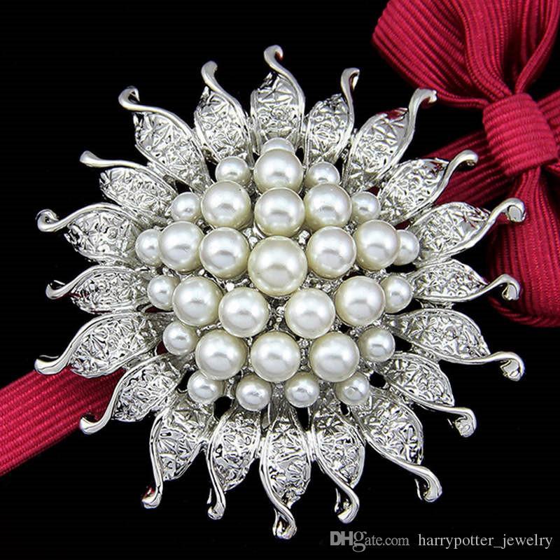 Flower Brooch Pin Sun Flower Fashion Wedding Jewelry Accessories Bridal Party