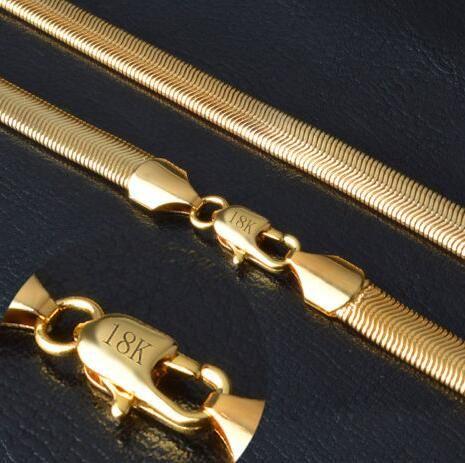 Oro blanco de 14 k CLEAR CZ Iced Out 1 Row Collar de hipHop Tennis de cadena masculina para hombreModa Hombre 18K Gold Gold Filled Necklace Snake Bone Solid