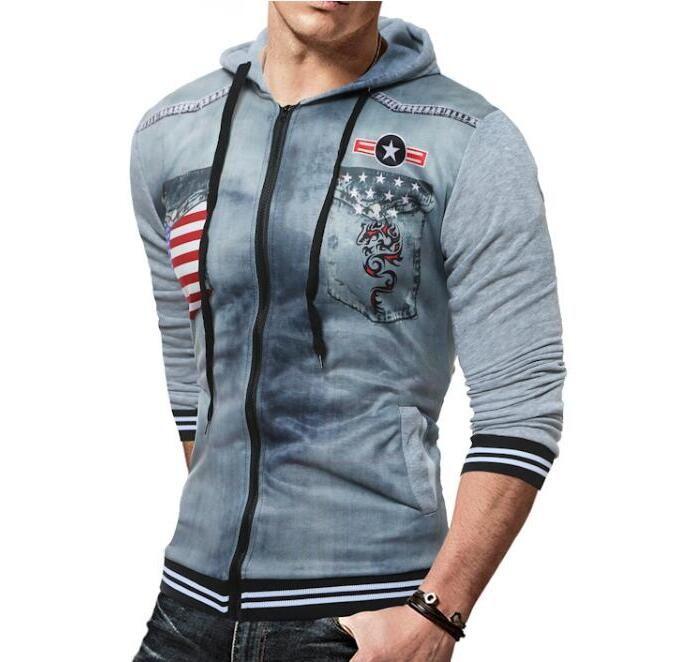 ... Brand 2017 Hoodie Zipper Printing Cardigan Hoodies Men Fashion  Tracksuit Male Sweatshirt Off White Hoody Mens ... - 2017 Brand 2017 Hoodie Zipper Printing Cardigan Hoodies Men