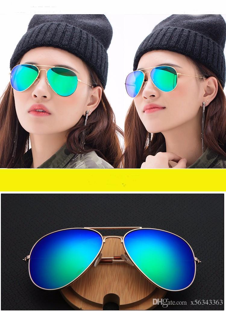 30 stücke 2016 Verkauf Klassische Männer Frauen Sonnenbrille Brillen Markenname Mode sonnenbrille Frauen sonnenbrille Metall Pilot Marke Sonnenbrille.