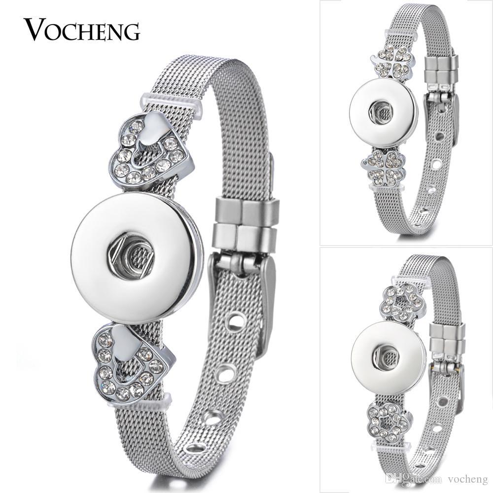 Monili dei braccialetti a schiocco dello zenzero dell'acciaio inossidabile con 5 stili Vocheng Snap Jewelry NN-620