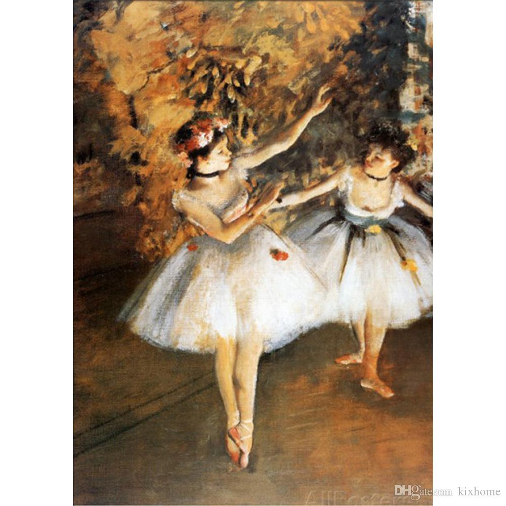 Edgar Degas Ballerine Alla Barra reprodução de pinturas a óleo da arte da lona pintados à mão Home decor