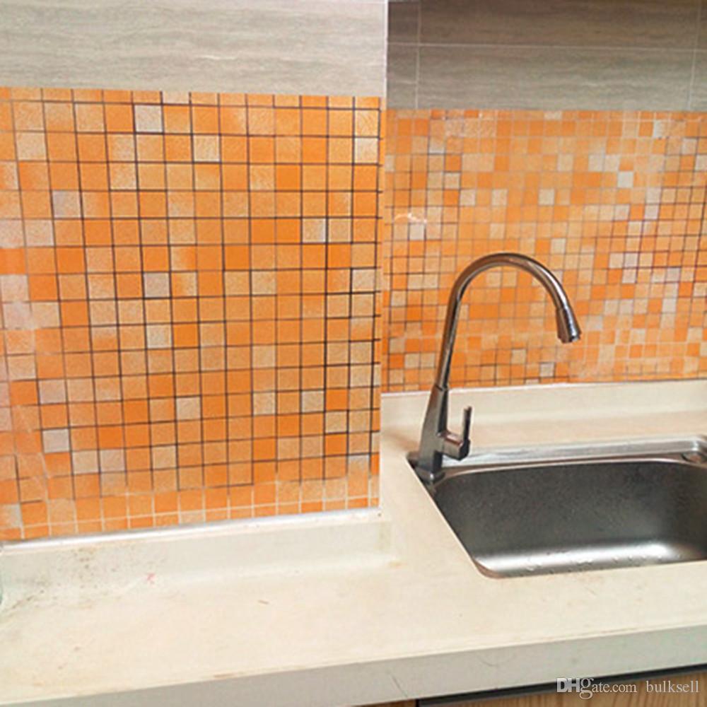 2017 5m mosaic pvc wall stickers aluminum foil self adhesive vinyl 5m mosaic pvc wall stickers aluminum foil self adhesive vinyl waterproof wall sticker kitchen bathroom toilet