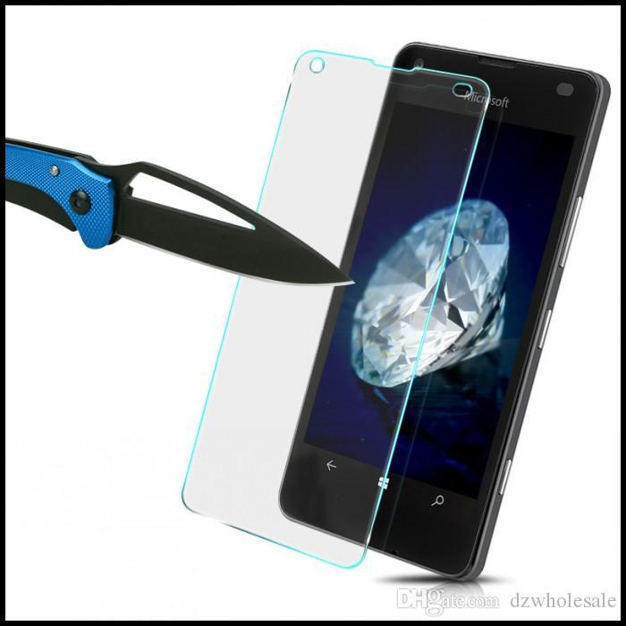 Schermo in vetro temperato Premium 9H 0.26mm per Nokia Lumia 435 520 530 532 535 625 630 635 640 640XL 730 735 Pellicola protettiva 300 Pz / lotto