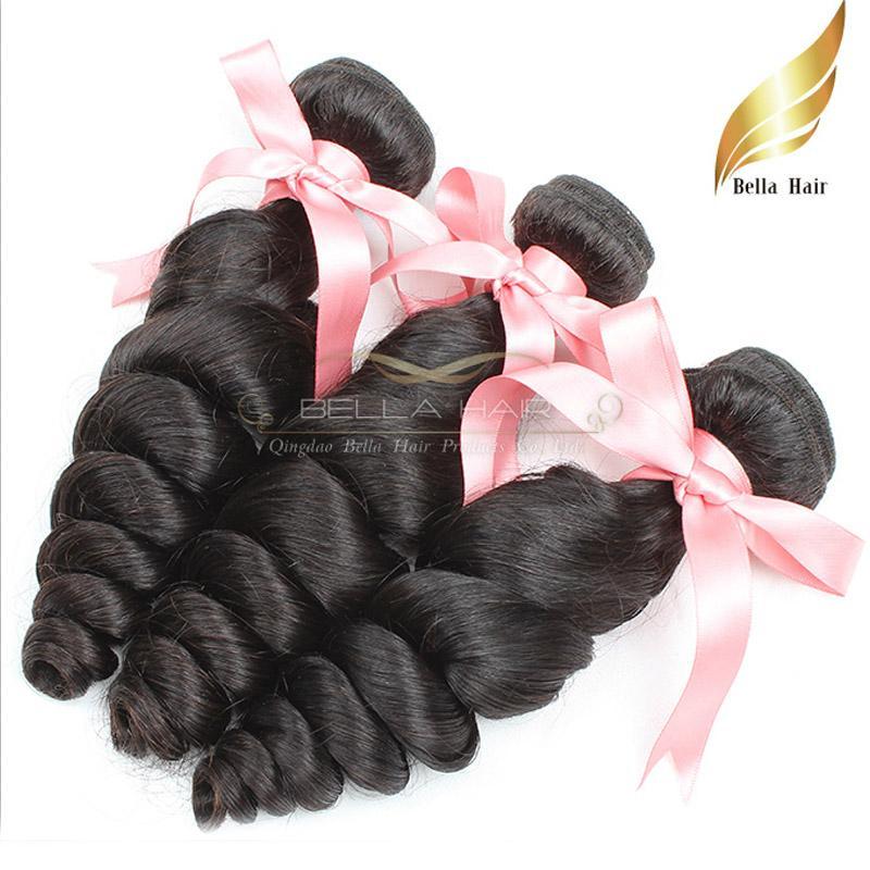 Peruwiańskie Remy Włosy Dziewiczy Ludzki Włosy Tkactwo Luźne Wave Włosy Splot 10-24 Cal Klasa 9A 3 sztuk Lot Natural Color Darmowa Wysyłka