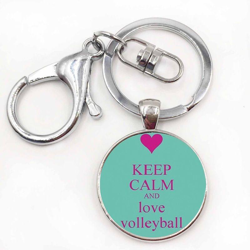 Marca voleibol esportes keychain casual verão estilo homens mulheres moda eventos esportivos presentes chaveiro anel de jóias