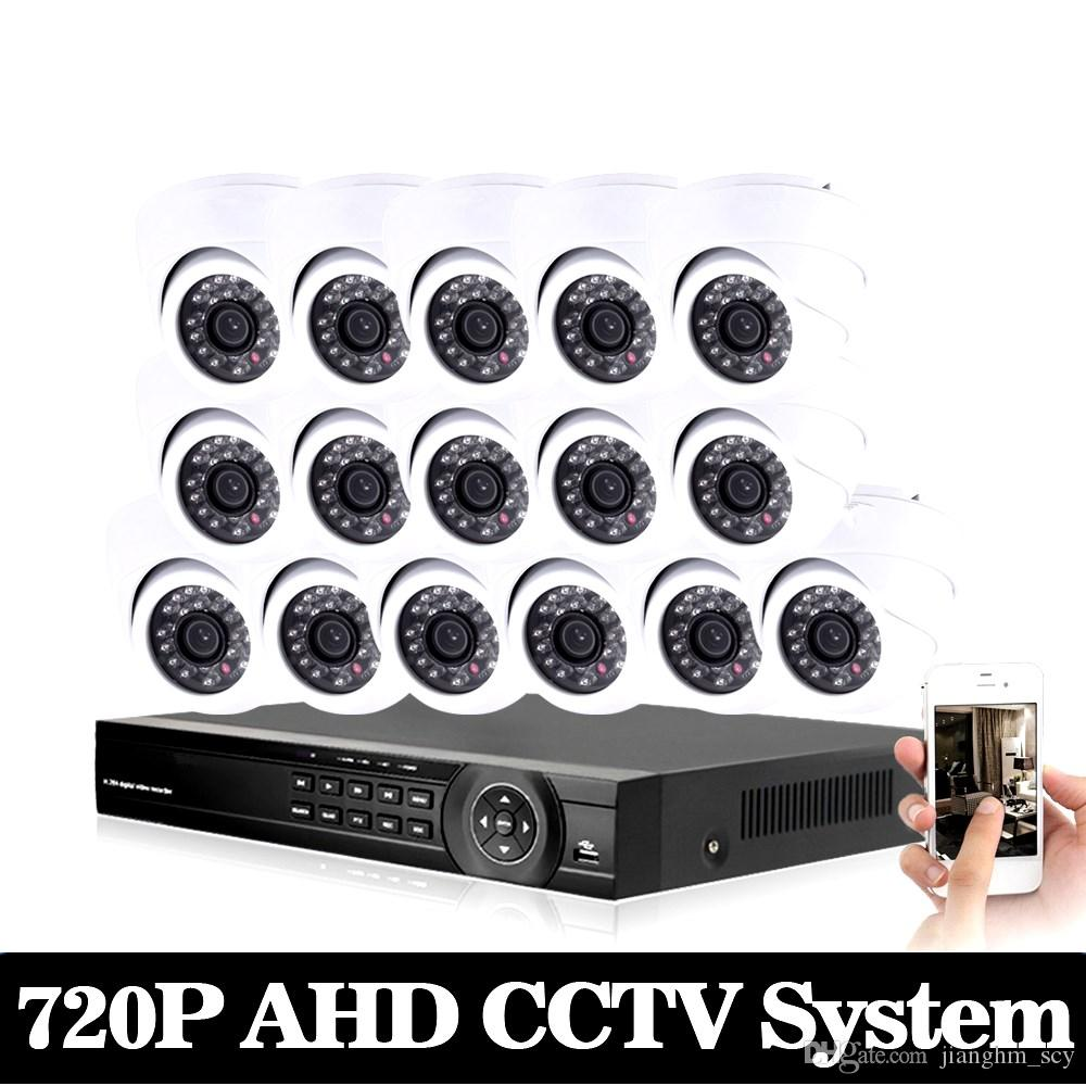 AHD CCTV System 16CH DVR Kit 16 Channel 1080P DVR With IR Day Night 2000TVL Security Dome CCTV Camera Video Surveillance System