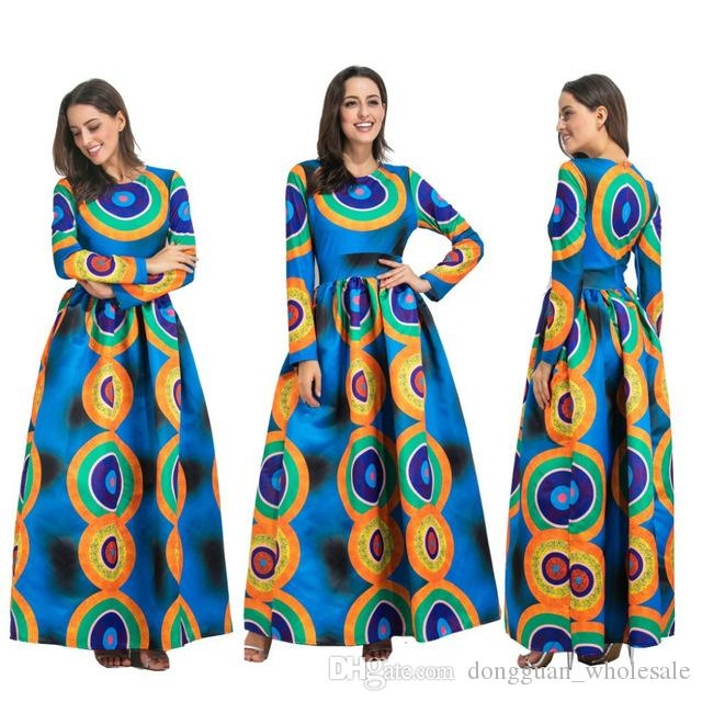 online retailer modern style enjoy free shipping 2018 Dashiki African Dresses For Women Top Bazin African Traditional  Private Custom Clothes One Piece Half Sleeve Loose Dress Formal Dress  Backless ...
