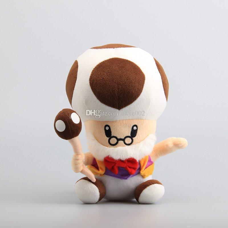 2020 Hot Sale 10 25cm Super Mario Mushroom Old Toad Plush Doll