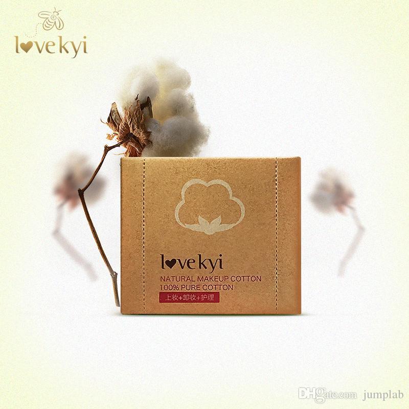 Оптовая lovekyi 100 шт/коробка практичный прочный макияж косметические процедуры для лица чистки белый хлопок колодки для удаления влажные салфетки