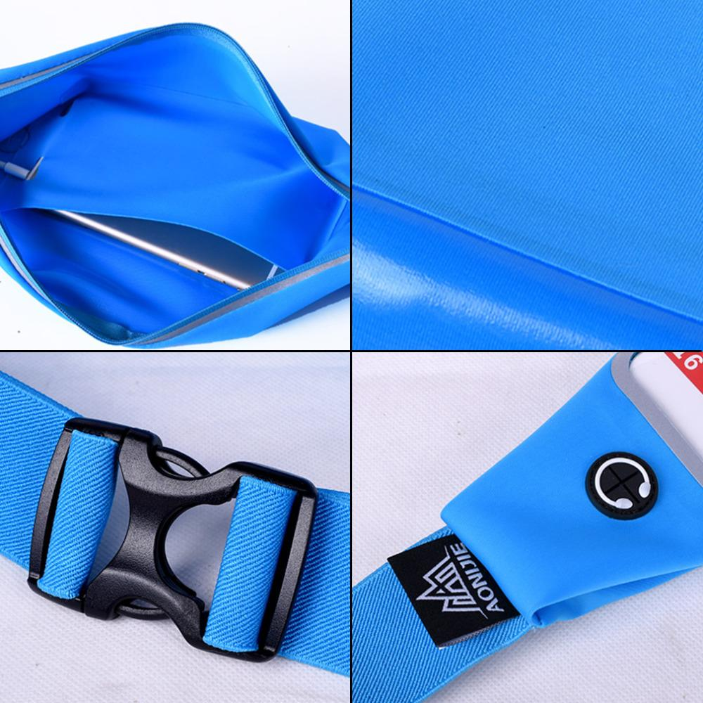 Online Cheap Wholesale Aonijie Running Waist Sports Bag Wallet Blue Green Elastic Waterproof Fitness Belt For Iphone Well Sell By Lianqiao