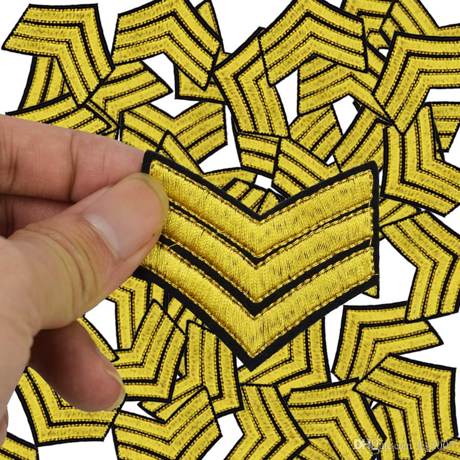 Military Stripe embroidered badge patches for clothing iron embroidered patch applique iron on patches sewing accessories for clothing