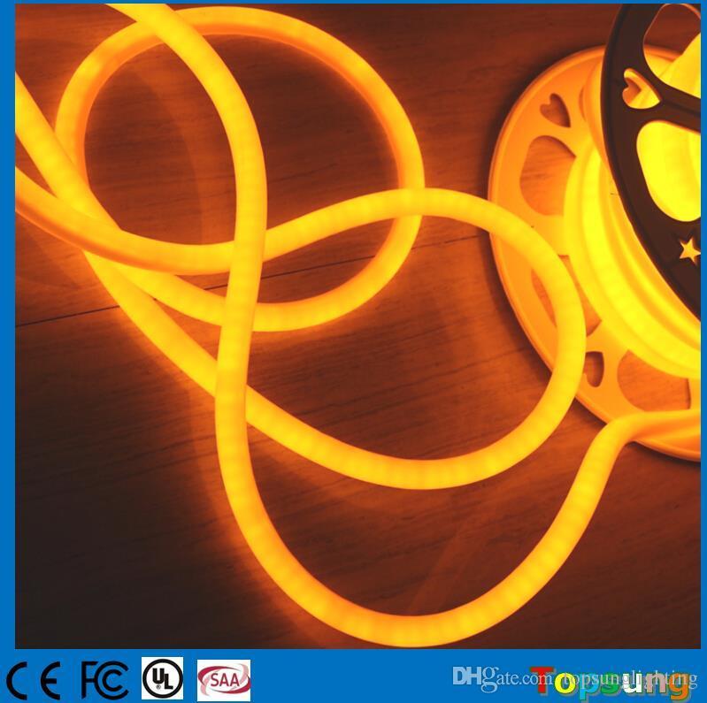 2017 nuovo 16mm 360 gradi flessibile led corda morbida 2835SMD giallo multi tensione 20m mini neon