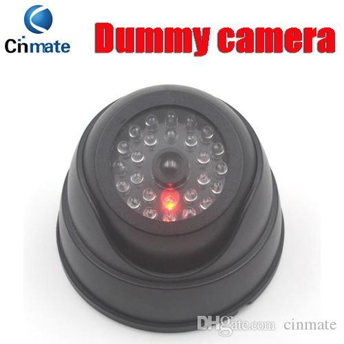 돔 보안 더미 카메라 가짜 카메라 시뮬레이션 적외선 적외선 LED 가짜 카메라 깜박이 불빛과 함께 CCTV 감시 5pcs