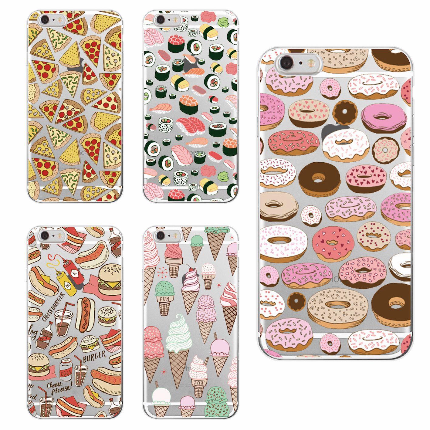 Pizza Donuts Sushi Hotdog Ice Cream French Bulldog Phone Case ...