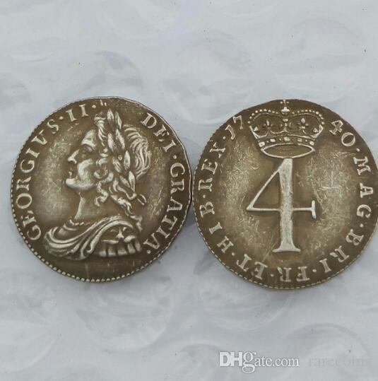 Великобритания 1740 4 пенсов - George II Maundy чеканки бесплатная доставка