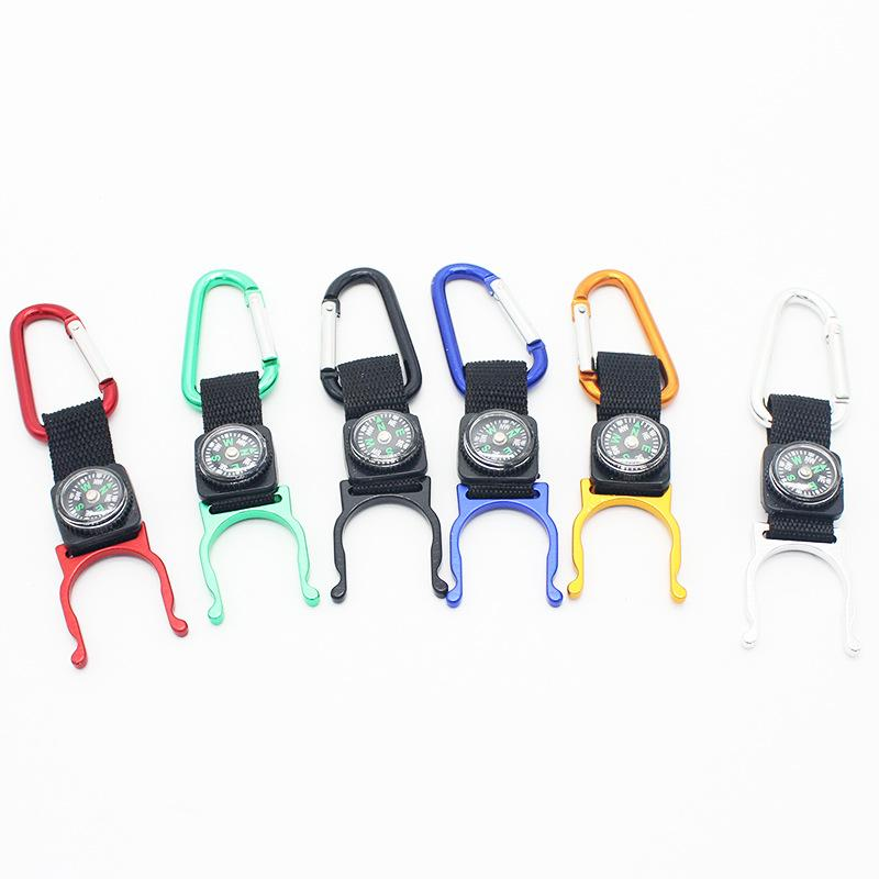 Outside hiking, climbing compass, hanging hook climbing kettle button beverage hanging portable buckle