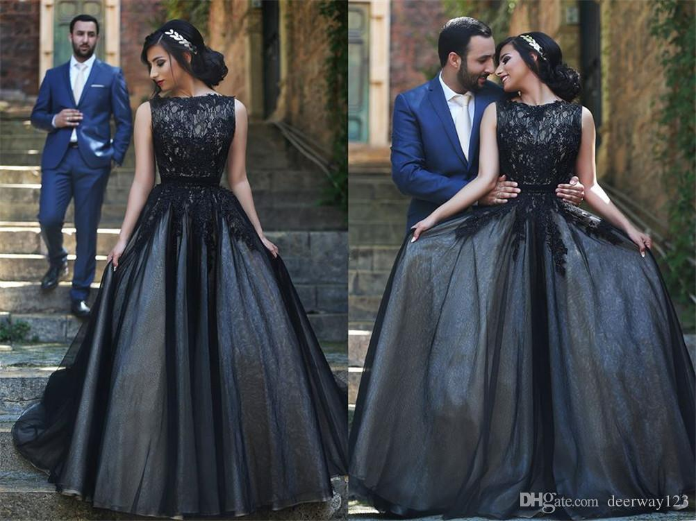 Nouvelle robe de bal robe curto de festa Robe de soirée élégante sans manches en tulle noire Robe de soirée en dentelle
