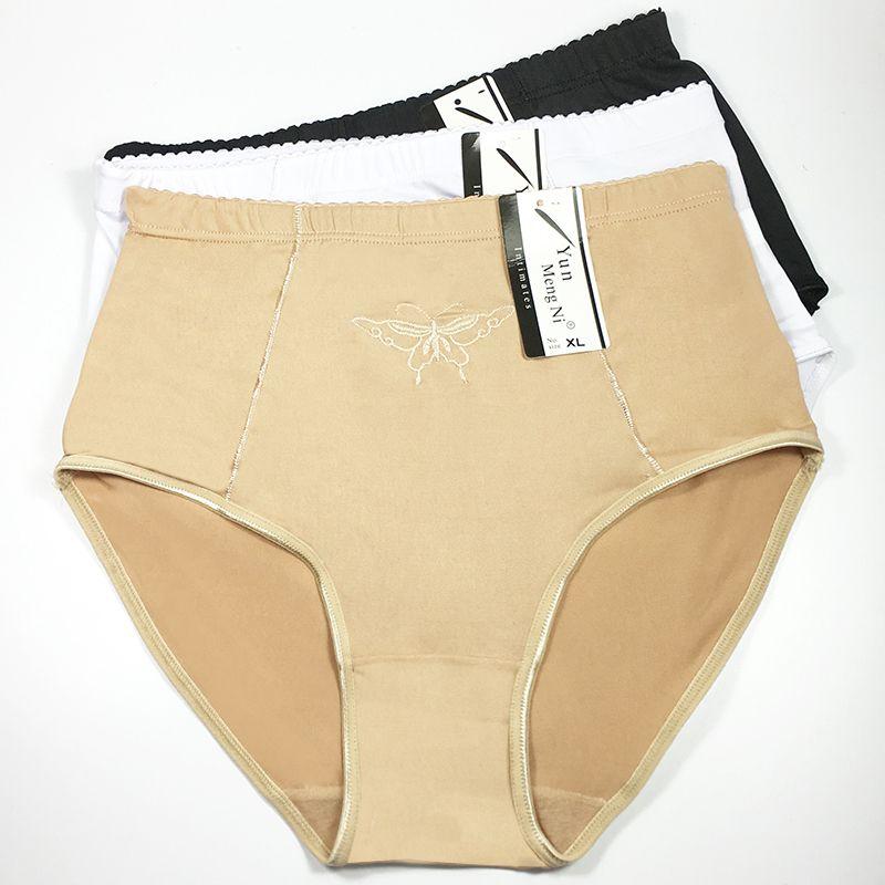 2017 Big Size Women Underwear high Waist Silk Lady hipster Plus Size Brief Sexy women Boyshort Wholesale Panties Size M- XXXL