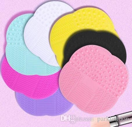 Silicone Professional Makeup Brush Cleaner Washing Scrubber Board Cosmetic Cleaning Mat Pad Free DHL 2019 new