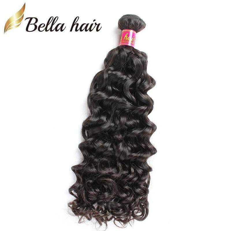 Bellahairマレーシアの水道髪の伸びの髪の束のバージンの髪織り10-30インチの二重緯糸