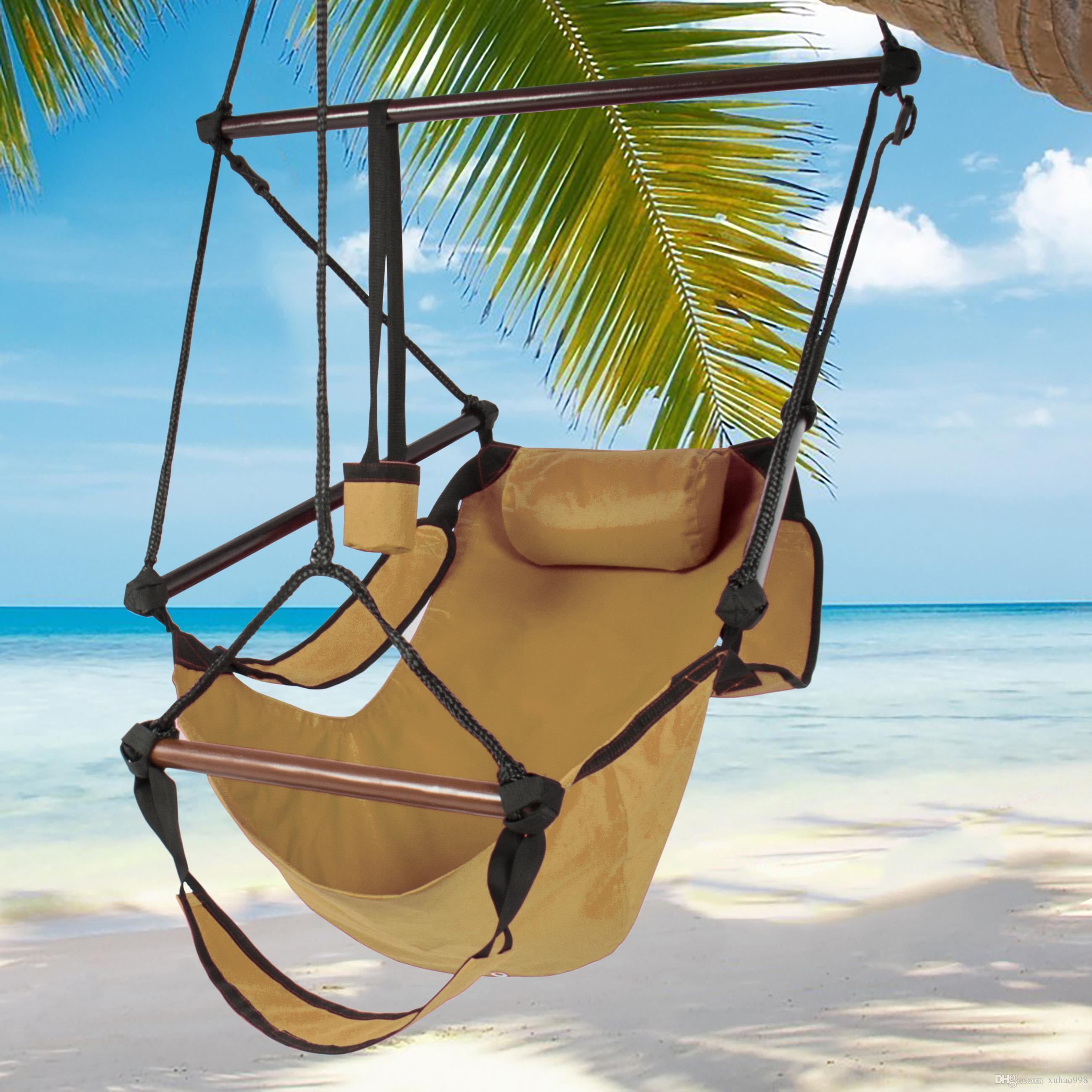 Hamac suspendu Chaise Air Deluxe Chaise d'extérieur en bois massif