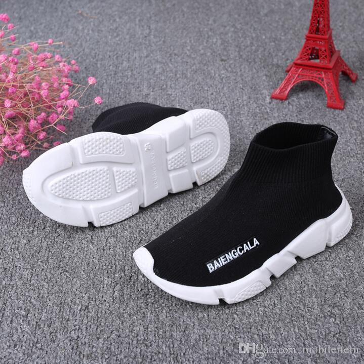Boutique Kids sneakers boots boy girls knitted Athletic socks shoes sports shoes toddler kids shoes baby running 1648