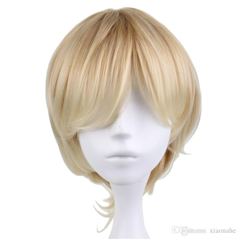Short Curly Men Male Cosplay Party Costume
