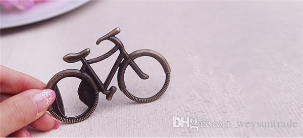 bicycle bike shaped bottle opener wedding party favor guest