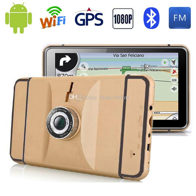 HD 7 inch Android GPS Navigation WIFI Bluetooth Quad-core Tablet PC 1080P Car DVR AVIN 512MB 8GB Truck Vehicle GPS Maps