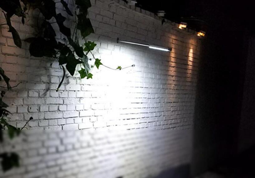 슈퍼 밝은 태양 센서 (48) LED 램프 100W 하이라이트 방수 야외 벽 램프 보안 스포트 라이트에 의해 마이크로 웨이브 레이더 모션