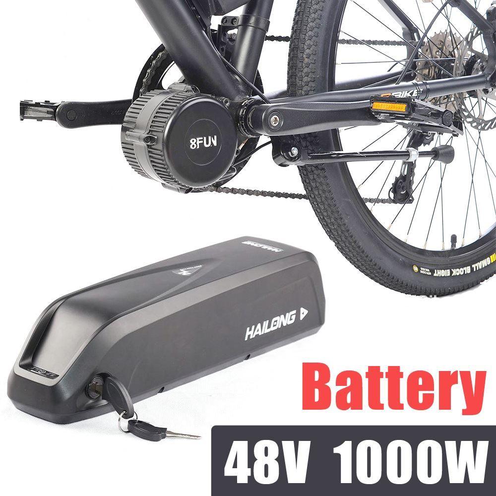 Bateria elétrica da bicicleta 48v para jogos do bafang de 1000W bateria impermeável do bloco iof do lítio 11.6ah de Hailong