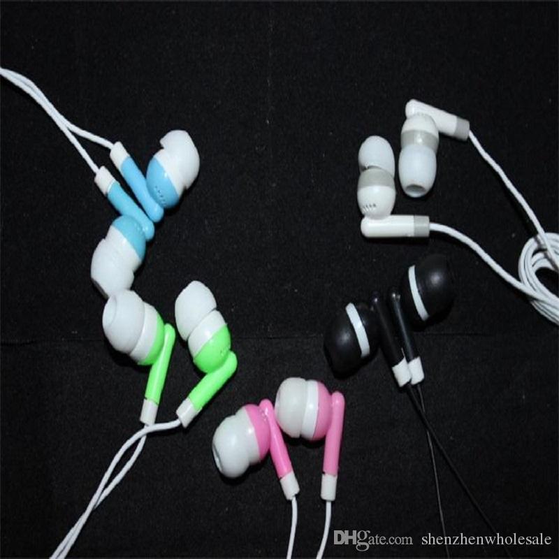 2000pcs 3.5mm In ear headphones earphone earbud headset headphone for PC Laptop MP3 MP4 DHL FEDEX free